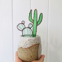 Alexa Braud Stained Glass Cactus